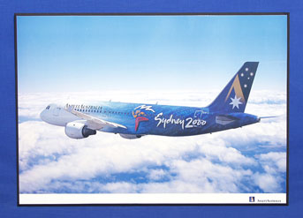 OLYMPIC AIRCRAFT POSTER (A320-211, VH-HYB)